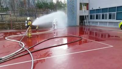 화재진압훈련 영상(강서소방서)