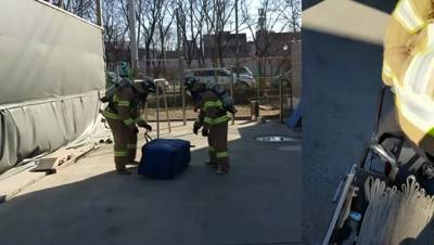 화재진압분야 상시 훈련종목(인명구조매트 전개 훈련)