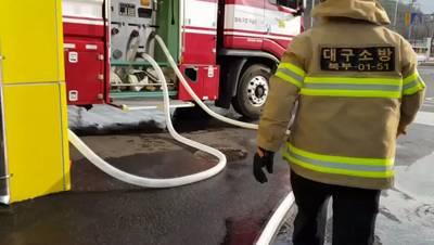 화재진압분야 상시 훈련종목(소화전 점령 및 중계방수 훈련)